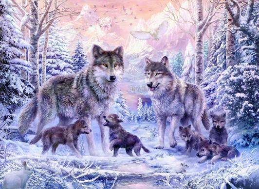 winter-wolf-family-jan-patrik-krasny